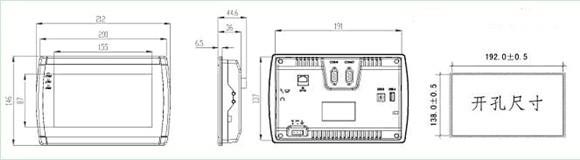 4通讯接口 串行接口(com1) rs422/rs485(9针公头) 扩展串口(com2) rs